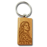 Wooden Keychain With Picture