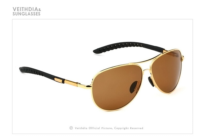 Men's Aviator 65 X 50 Mm Gold Shade And Frame...
