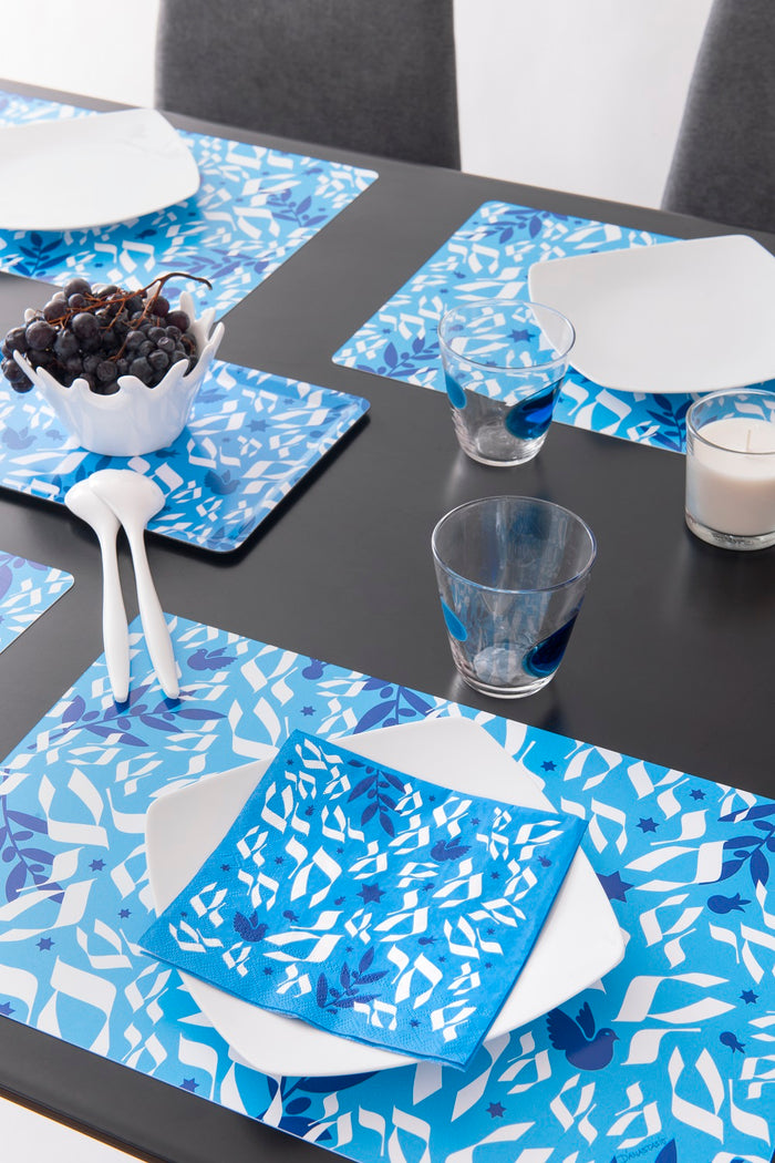 "Set de table ""Haï"" Bleu"