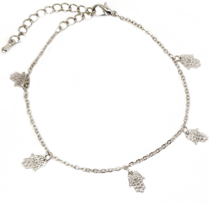 Bracelet aux 5 Mains (Argent ou Or)-O-Judaisme