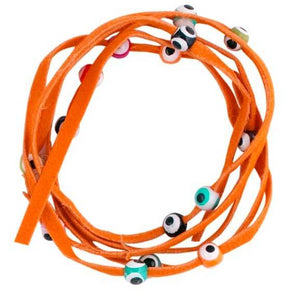 Bracelet de la chance ficelle orange-O-Judaisme