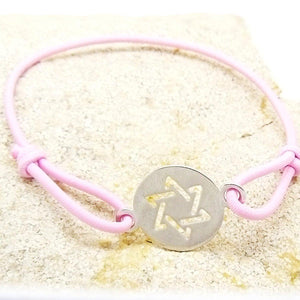 Bracelet Etoile de David - Couleur Rose Tendre-O-Judaisme