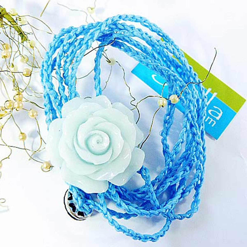 "Bracelet multi-tours ""La rose bleue lagon""-O-Judaisme"