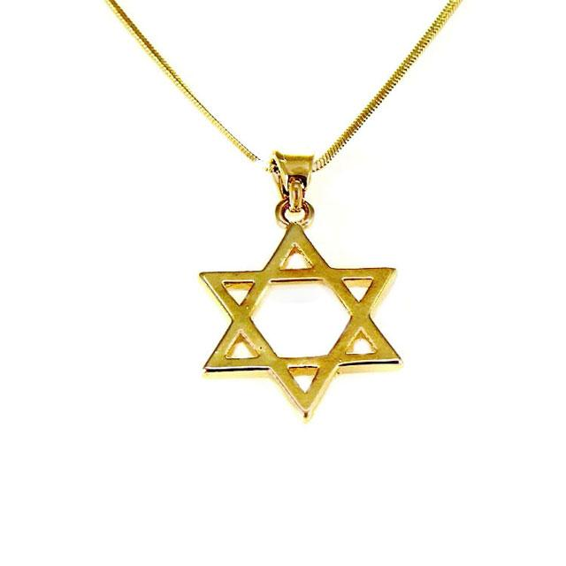 Collier Magen David doré-O-Judaisme