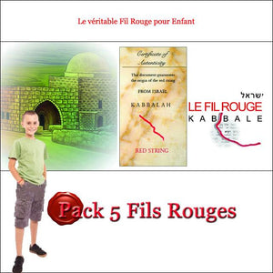 FIL ROUGE D'ISRAEL ENFANT - Lot de Cinq-O-Judaisme