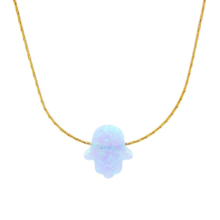 Hamsa Opaline Chainette Goldfiled