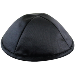 Kippa satin - Noir-O-Judaisme