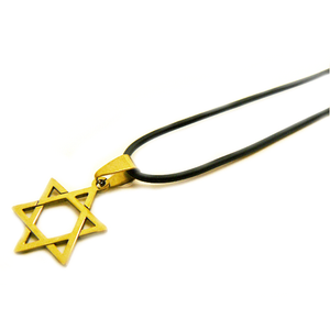 Médaillon Magen David acier or-O-Judaisme