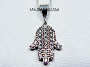 Pendentif Main de Myriam serti de brillants-O-Judaisme