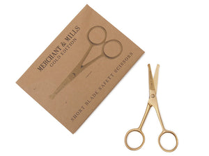 Short Blade Gold Scissors
