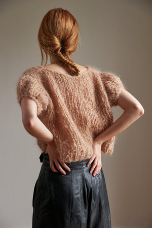 Mohair Puff Sleeve Top キット(日本語パターン付き)