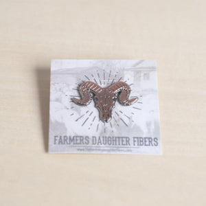 The Farmers Daughter Fibers Bison Pin