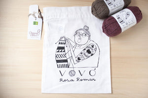 Vovó project bag -knitting-