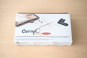 CarryC Long Fine Gauge Interchangeable Bamboo Knitting Needles Set