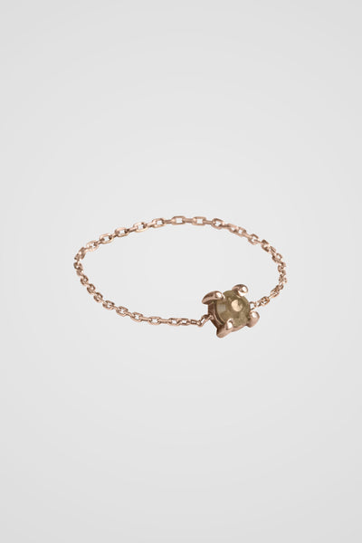 ROSE CUT DIAMOND CHAIN RING