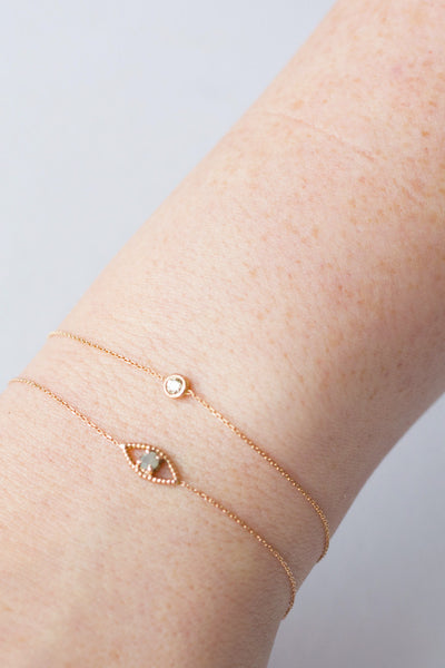 ROSE CUT EVIL EYE BRACELET
