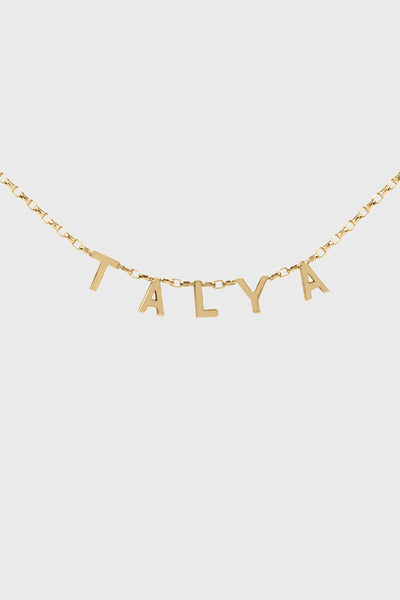 CONNECT NAME NECKLACE