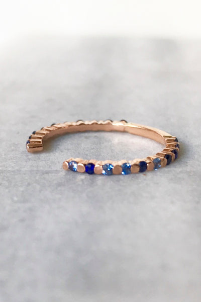 ARI OPEN FLOATING SAPPHIRE RING
