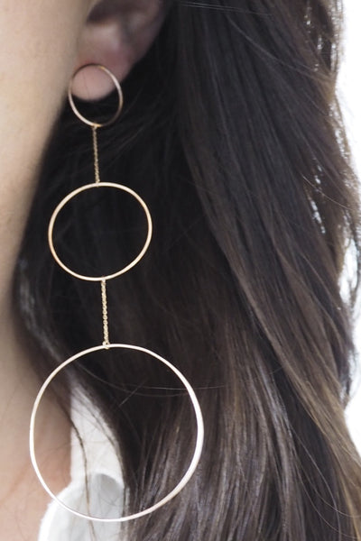 INFINITY STATEMENT DROP EARRING