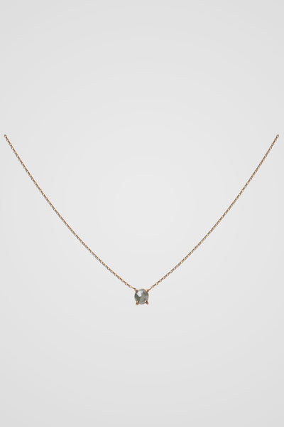 ROSE CUT STUD NECKLACE