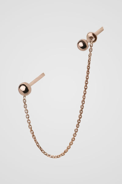 SKIN DOUBLE CHAIN EARRING