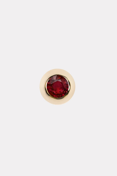Ruby Birthstone Stud