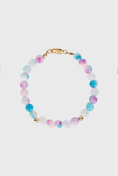 BUBBLE BEAD TIE DYE STRAND BRACELET (MORE COLOURS)