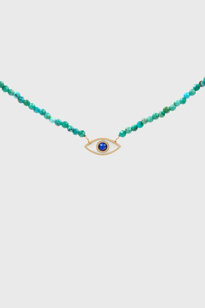 Sisterhood Turquoise Evil Eye Necklace