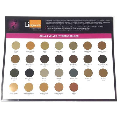 Li Pigments Fold-Up Color Chart
