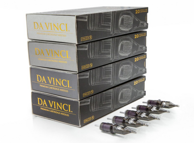 "DA VINCI Cartridge Needles - 5 Round Liner #10 ""Small to Medium Eyeliners"""