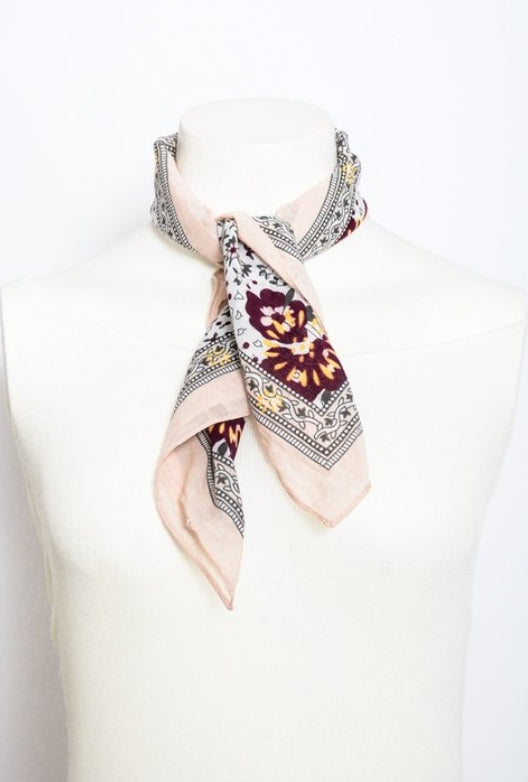 Orchid floral print scarf