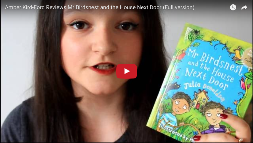 Guest vlogger Amber Kirk-Ford reviews Mr Birdsnest and the House Next Door by Julia Donaldson