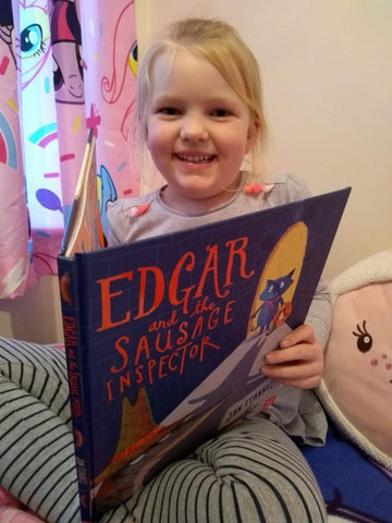 Elija reads Edgar and the Sausage Inspector