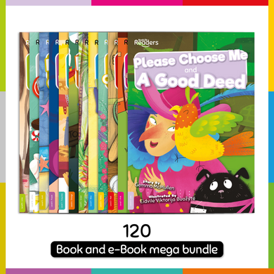 BookLife Readers: Level 0-11 Lilac to Lime Book and Digital Bundle (120 Books + 120 e-Books)