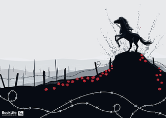 Free A3 downloadable War Horse poster illustrated by Charlotte Neve
