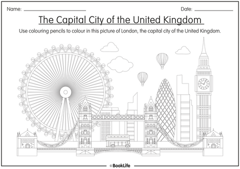 Colour The Capital City Worksheet