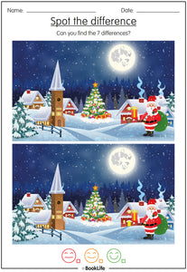 Christmas Spot The Difference Activity Sheet by BookLife