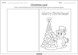 Colour in Christmas Card Activity Sheet by BookLife