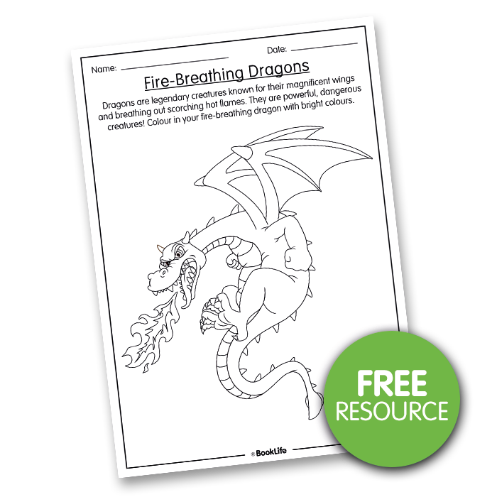 Colouring In Fire-Breathing Dragon by BookLife