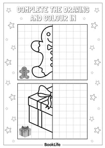 Complete the Christmas Drawing Activity Sheet