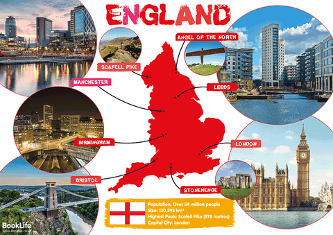 Free Map of England Poster
