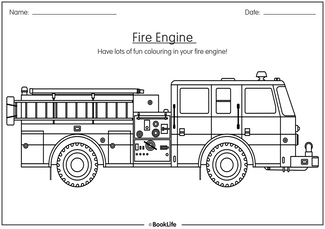 Colouring In Fire Engine