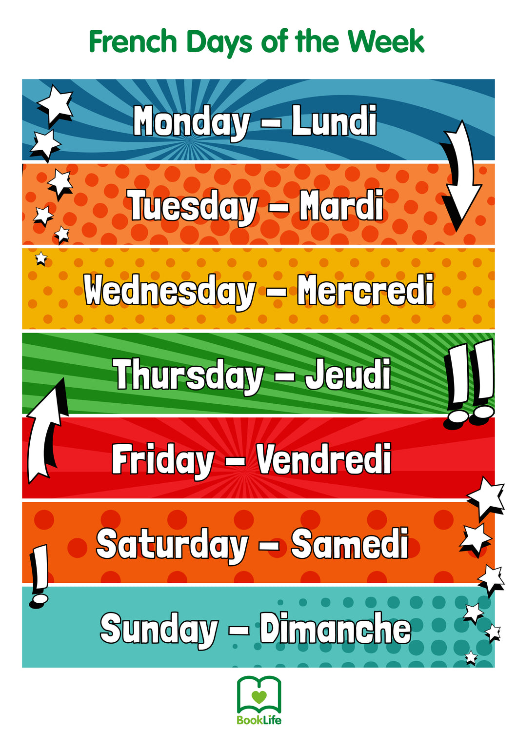 Free French Days of the Week Poster by BookLife