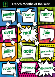 Free French Months of the Year Poster by BookLife