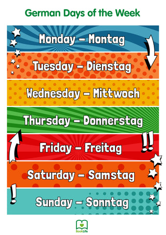 Free German Days of the Week Poster by BookLife
