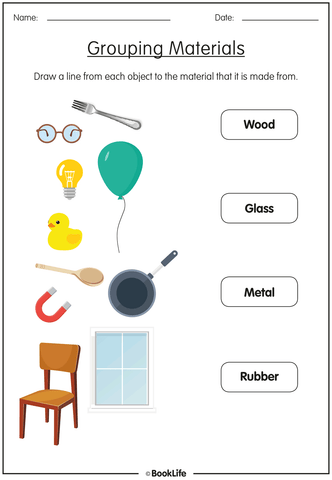 Free Grouping Materials Activity Sheet