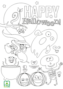 Free Spooky Halloween Colouring Sheet by BookLife