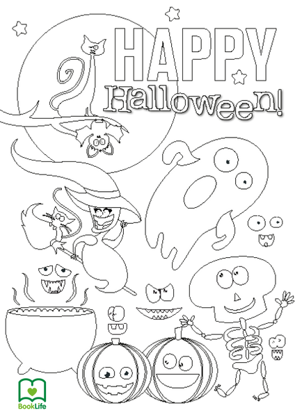 Free Spooky Halloween Colouring Sheet