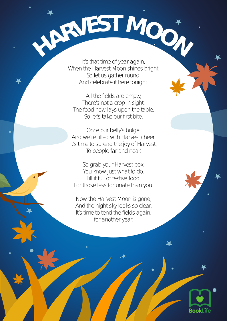 Free Harvest Poem Poster by BookLife