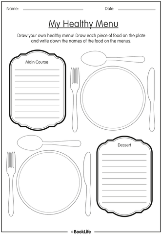 Healthy Eating Activity Sheet